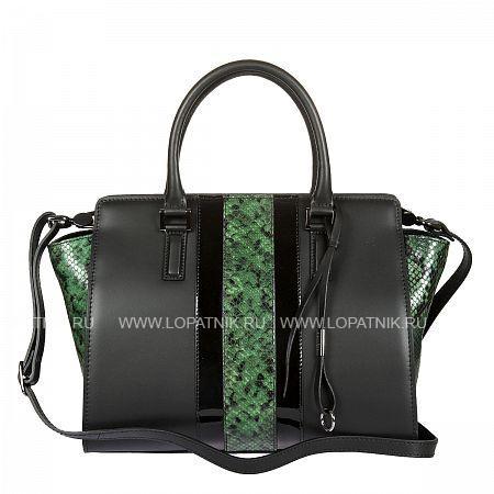 Женская кожаная сумка GIANNI CONTI 2413434 GREENЖенские сумки<br>Материал: натуральная кожа<br>Высота ручек (см): 13<br>Размеры (см): 32 x 16 x 23<br>Производитель: Gianni Conti Elda Trade S.R.L., Италия<br>Описание:<br>- закрывается на молнию<br>- внутри отдел, в котором<br>- два кармана на молнии<br>- три кармана для мелких предметов<br>- держатель для авторучки<br>- оснащена съемным регулируемым плечевым ремнем на карабинах<br>Материал: Натуральная кожа; Цвет: Зеленый , Черный; Пол: Женский; Артикул: 2413434 green;