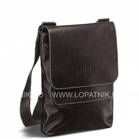 Кожаная сумка через плечо Pigna (Пинья) black BRIALDI BRIALDI-1055Мужские сумки через плечо<br>Безумно стильная, безупречно элегантная сумка. Благородство кожи эффектно подчеркивает демократичный и удобный плечевой ремень. Оригинальное крепление плечевого ремня. Планшет вмещает формат А4 и планшет iPad. Клапан закрывается на два магнитный замка, обратная сторона его – из шикарной замши. Под клапаном – аккуратный карман и основное отделение с потайным карманом. Основное отделение, несмотря на компактную планшетную форму сумки, достаточно вместительное.<br><br> Высококачественная натуральная кожа Nappa PremiumВместимость формата А4Возможность разместить iPad/ноутбук до 11,6дюймовВнутри потайной карман на молнииОсновное отделение закрывается на кнопкуСзади вертикальный карман на молнии для до...<br>Материал: Натуральная кожа; Цвет: Черный; Пол: Мужской; Артикул: brialdi-1055;