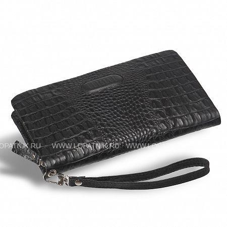 Мужской клатч BRIALDI Bell (Белл) croco black   BRIALDI BRIALDI-12061Мужские барсетки<br>Аккуратная небольшая модель модного мягкого силуэта. Современная модель – и по виду, и по содержанию. Внутри комфортно разместятся: паспорт, водительское удостоверение и документы на автомобиль в отдельном кармане, шесть слотов для пластиковых карт позволят иметь под рукой самые нужные карточки, для купюр предусмотрены два открытых отделения, а для монет Вы можете использовать карман на молнии. Ручка-петелька элегантная, с удобным креплением. Модель сшита из высококачественной натуральной кожи.    <br>Высококачественная натуральная кожа VatelinoМодель закрывается на одну молниюВнутри: два отсека для купюр, карман для паспорта и автодокументов, шесть слотов для пластиковых карт, карман на молнии...<br>Материал: Натуральная кожа; Цвет: Черный; Пол: Мужской; Артикул: brialdi-12061;