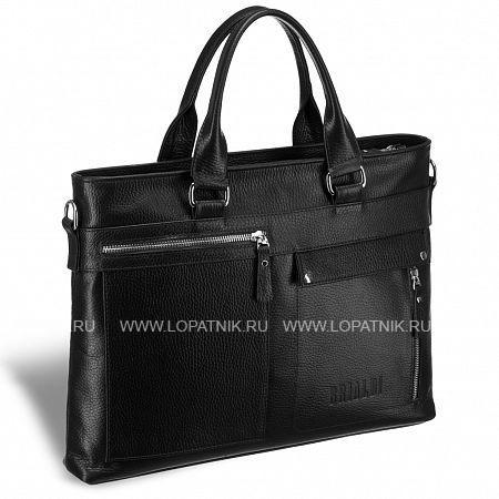 Купить Деловая сумка Slim-формата для документов BRIALDI Bresso (Брессо) relief black BRIALDI BRIALDI-17819