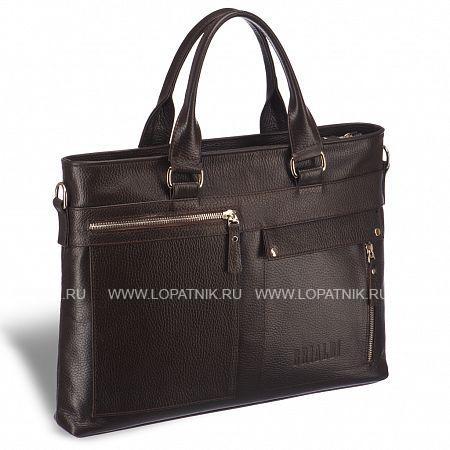 Купить Деловая сумка Slim-формата для документов BRIALDI Bresso (Брессо) relief brown BRIALDI BRIALDI-17820