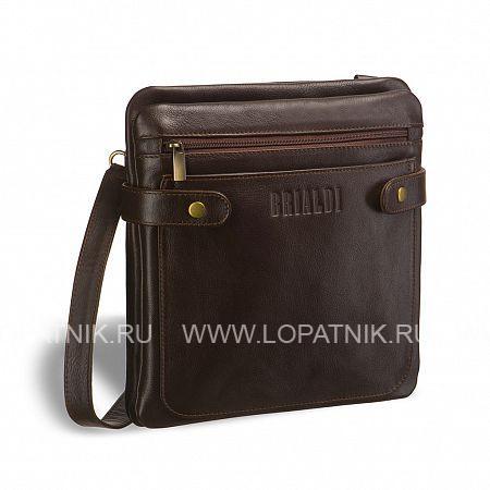 """Кожаная сумка через плечо Nevada (Невада) brown BRIALDI BRIALDI-2986Мужские сумки через плечо<br>Интересная и удобная сумка - """"сэндвич"""" планшетной формы. Между двумя отделениями - """"слоями"""" расположена вместительная открытая секция, идеальная для размещения документов и иных мелочей. У модели два наружных кармана: на лицевой стороне открытый, на обратной стороне на молнии. Вход в первое и второе отделения радует нестандартным решением. Во втором отделении имеется потайной карман. Боковые хлястики на магнитных шпильках помогают сумке держать форму. <br><br><br> Высококачественная натуральная кожа уникальной текстуры сорта Great NappaВозможность разместить iPad mini/ноутбук до 8дюймовОсновное отделение закрывается на скрытый магнитСпереди карман на молнии и карман открытого типа для важных мелоче...<br>Материал: Натуральная кожа; Цвет: Коричневый; Пол: Мужской; Артикул: brialdi-2986;"""