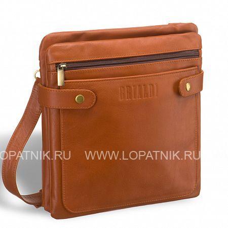 """Кожаная сумка через плечо BRIALDI Nevada (Невада) whiskey BRIALDI BRIALDI-7554Мужские сумки через плечо<br>Интересная и удобная сумка - """"сэндвич"""" планшетной формы. Между двумя отделениями - """"слоями"""" расположена вместительная открытая секция, идеальная для размещения документов и иных мелочей. У модели два наружных кармана: на лицевой стороне открытый, на обратной стороне на молнии. Вход в первое и второе отделения радует нестандартным решением. Во втором отделении имеется потайной карман. Боковые хлястики на магнитных шпильках помогают сумке держать форму. <br><br><br> Высококачественная натуральная кожа уникальной текстуры сорта Great NappaВозможность разместить iPad mini/ноутбук до 8дюймовОсновное отделение закрывается на скрытый магнитСпереди карман на молнии и карман открытого типа для важных мелоче...<br>Материал: Натуральная кожа; Цвет: Коричневый; Пол: Мужской; Артикул: brialdi-7554;"""