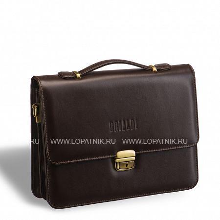 Купить Компактный портфель для документов c отделениями BRIALDI Ameca (Амека) brown BRIALDI BRIALDI-9526, Коричневый, Натуральная кожа