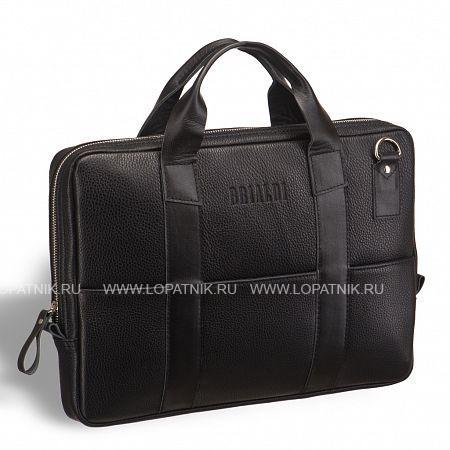 """Очень удобная сумка для документов и города BRIALDI Locke (Локк) black BRIALDI BRIALDI-9547Мужские сумки<br>Современная стильная компактная сумка для документов. Маневренная благодаря подвижным, удобным, послушным ручкам. Выглядит стильно благодаря вертикальным кожаным лентам. Внутри вместительное основное отделение для документов формата А4, большой карман на молнии, открытый карман для ноутбука размером до 15,6"""" дюймов. На лицевой и задней панелях размещены по три кармана оперативного доступа:для телефона, записной книжки, важной мелочи. Плечевой ремень в комплекте. Высококачественная натуральная кожа сорт CanyonОтделение для ноутбука до 15,6дюймовМягкая, устойчивая формаТканевый подклад с защитным покрытием SilktouchМеталлическая молния цвет Arctic WhiteСнаружи: на лицевой и задней панелях раз...<br>Материал: Натуральная кожа; Цвет: Черный; Пол: Мужской; Артикул: brialdi-9547;"""