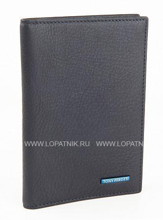 Кожаная обложка для паспорта TONY PEROTTI 563435/23Обложки для паспорта<br>Кожаная обложка для паспорта, внутри пять кармашков для визиток.<br>Материал: Натуральная кожа; Цвет: Синий; Пол: Мужской, Женский; Артикул: 563435/23;