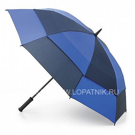 Очень большой семейный зонт  FULTON S669-2167Зонты мужские<br>Мужской зонт-гольфер с двойным куполом «Голубой-синий», механика<br>Огромный, без преувеличения, зонт, под которым чувствуешь себя как под крышей. Смысл двойного купола в том, чтобы уменьшать парусность и тем самым силу, с которой порывы ветра вырывают зонт из рук. Для той же цели – чтобы надежно и комфортно удерживать зонт – у него прорезиненная, не скользящая ручка. Ветроустойчивая конструкция выполнена из фибергласса. Это идеальный зонт не только для спортивных мероприятий в плохую погоду, но и для комфортной жизни в загородном доме.<br>Материал: Полиэстер (тканевый); Цвет: Синий, Голубой; Пол: Мужской; Артикул: S669-2167;