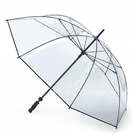 Купить Большой прозрачный зонт с защитой от ветра FULTON S841-004, Белый, Прозрачный, ПВХ