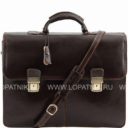 Купить Портфель со съемным плечевым ремнем TUSCANY TL141144-02, Коричневый, Натуральная кожа