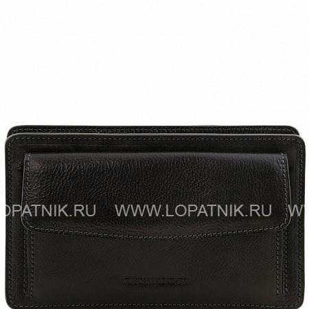 Мужской кожаный клатч TUSCANY TL141445-1, Черный, Натуральная кожа - купить со скидкой