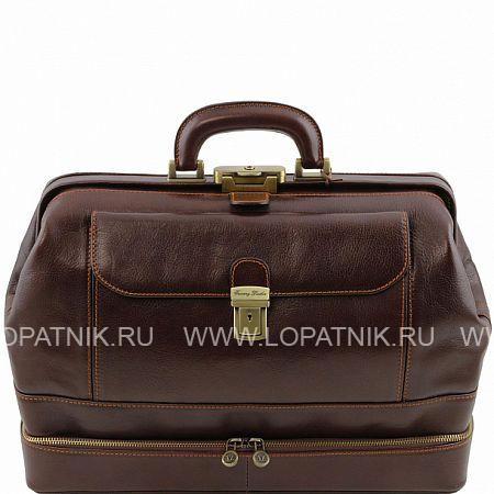 Купить Кожаная сумка доктора с двойным дном TUSCANY TL141297-02, Коричневый, Натуральная кожа