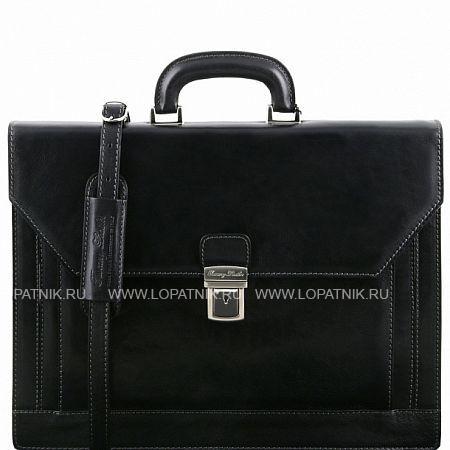 Купить Портфель мужской кожаный TUSCANY TL141348-1, Черный, Натуральная кожа
