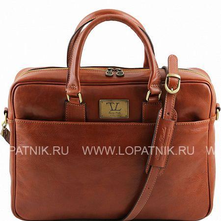 Сумка для ноутбука TUSCANY TL141241-4, Оранжевый, Натуральная кожа - купить со скидкой
