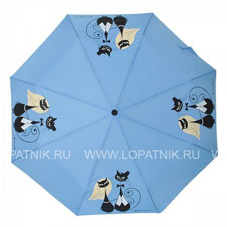 Зонт складной женский FLIORAJ 160401 FJ, Голубой - купить со скидкой