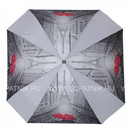 Купить Зонт-трость женский FLIORAJ 290401 FJ, Красный, Черный, Серый