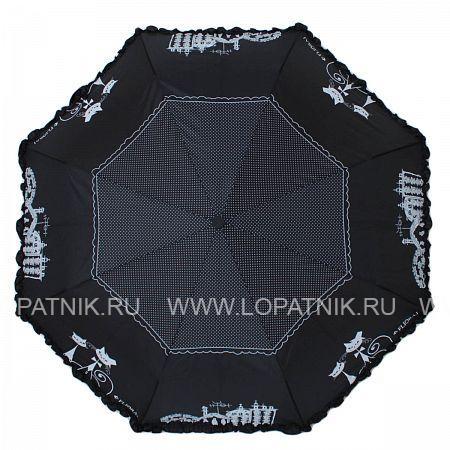 Купить Зонт женский автомат FLIORAJ 250103 FJ, Черный, Серый, Полиэстер (тканевый)