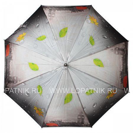 Зонт-трость женский FLIORAJ 051104 FJ, Черный, Серый, Разноцветный - купить со скидкой