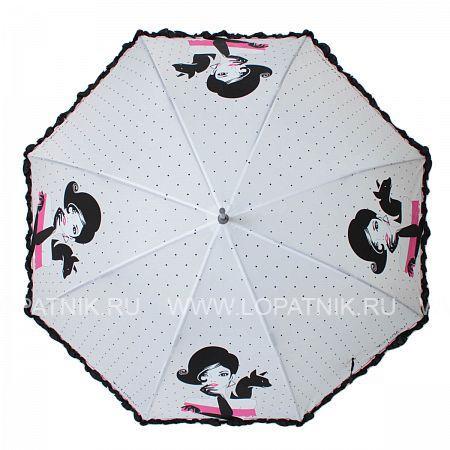 Купить Зонт-трость женский FLIORAJ 121213 FJ, Черный, Серый