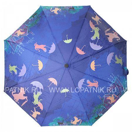 Купить Зонт женский автомат FLIORAJ 210208 FJ, Синий, Разноцветный