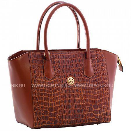 Женская кожаная сумка VASHERON 9996-N.CROCO TABAЖенские сумки<br>Сумка женская из натуральной комбинированной телячьей кожи.Закрывается на металлическую молнию.Внутри 2 основных отделения,2 кармана на молнии один из которых с фирменным логотипом,2 кармашка для мелочей,карабин на ленте для ключей. В комплекте кожаный съемный регулируемый ремень.<br>Материал: Натуральная кожа; Цвет: Коричневый; Пол: Женский; Артикул: 9996-N.Croco Taba;