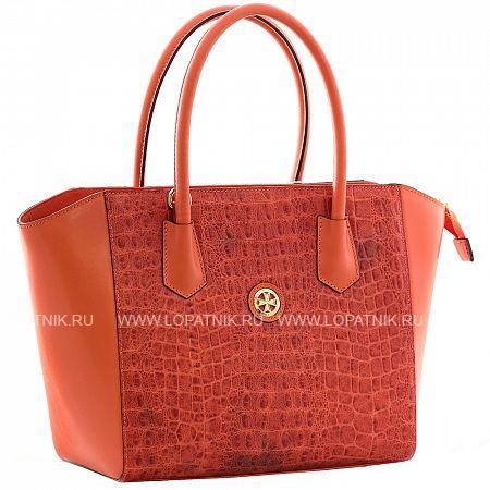 Женская кожаная сумка VASHERON 9996-N.CROCO CORALЖенские сумки<br>Сумка женская из натуральной комбинированной телячьей кожи.Закрывается на металлическую молнию.Внутри 2 основных отделения,2 кармана на молнии один из которых с фирменным логотипом,2 кармашка для мелочей,карабин на ленте для ключей. В комплекте кожаный съемный регулируемый ремень.<br>Материал: Натуральная кожа; Цвет: Оранжевый; Пол: Женский; Артикул: 9996-N.Croco Coral;