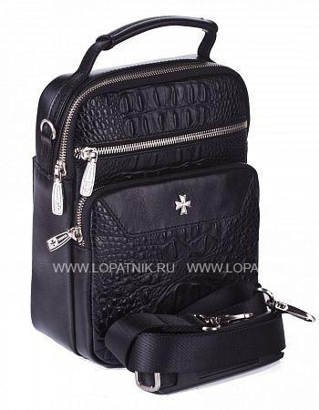 Сумка вертикальная с плечевым ремнем VASHERON 9480-N.BAMBINO BLACKМужские сумки<br>Сумка вертикальная из натуральной  комбинированой телячьей кожи с ручкой,на съемном  регулируемом плечевом ремне, закрывается на молнию,на лицевой стороне внутренний карман на молнии,накладной карман на молнии,с обратной стороны карман быстрого доступа  на магнитной кнопке.Внутри одно отделение ,на задней стенке карман для мелочей с фирменной эмиблемой на молнии,карабин для ключей на ленте.В комплекте фирменный мешок для хранения.<br>Материал: Натуральная кожа; Цвет: Черный; Пол: Мужской; Артикул: 9480-N.Bambino Black;