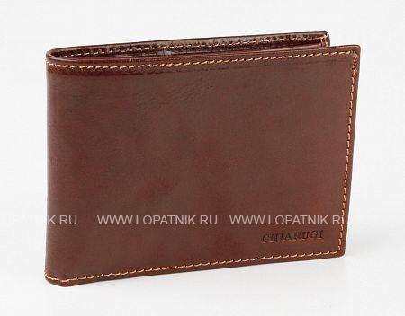 Купить Мужское кожаное портмоне CHIARUGI 1102, Коричневый, Натуральная кожа