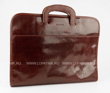 Купить Кожаная сумка для документов CHIARUGI 2319, Коричневый, Натуральная кожа
