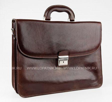 Купить Портфель кожаный мужской CHIARUGI 4511, Коричневый, Натуральная кожа