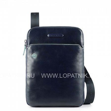 Купить Сумка вертикальная с плечевым ремнем PIQUADRO CA3978B2/BLU2, Синий, Натуральная кожа