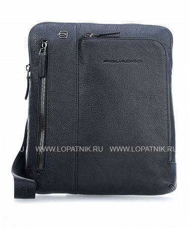 Купить Сумка вертикальная с плечевым ремнем PIQUADRO CA1816B3/BLU, Синий, Натуральная кожа