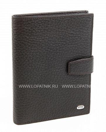 Обложка для паспорта и автодокументов PETEK 596.46B.02Обложки для паспорта<br>Обложка для паспорта и автодокументов из натуральной кожи великолепной выделки. Практичная и удобная модель для тех, кто предпочитает все необходимое хранить в одном месте. Внутри обложка имеет специальное отделение для паспорта, вынимающийся блок из прозрачного пластика для автодокументов. Обложка застегивается на кнопку.<br>Материал: Натуральная кожа; Цвет: Коричневый; Пол: Мужской; Артикул: 596.46B.02;