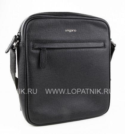 Купить Вертикальная сумка на плечевом ремне UNGARO BO00128M, Черный, Натуральная кожа