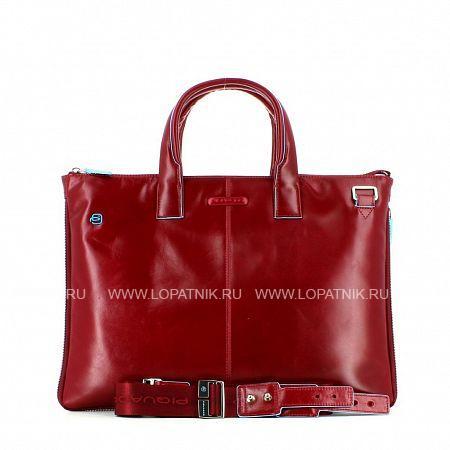 Купить Сумка для ноутбука кожаная мужская PIQUADRO CA4021B2/R, Красный, Натуральная кожа