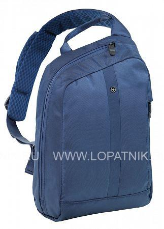 Рюкзак с одним плечевым ремнём VICTORINOX Gear Sling VICTORINOX 601797Дорожные сумки<br>Рюкзак с одним плечевым ремнём VICTORINOX Gear Sling с защитой w/RFID, синий, нейлон Versatek™, 24x10x34 см, 8 л<br>Материал: None; Цвет: None; Пол: None; Артикул: 601797;