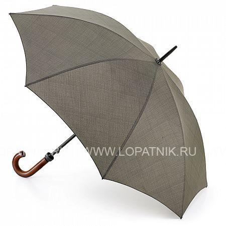 Зонт-трость мужской FULTON G817-2251Зонты<br>Классический мужской зонт-трость с двойной рамой.<br>Стальной стержень 14 мм в диаметре<br>Двойная стальная рама<br>Ручка из натурального дерева<br>Длина зонта в сложенном виде 90 см, диаметр купола 106 см<br>Материал: None; Цвет: Серый; Пол: Мужской; Артикул: G817-2251;