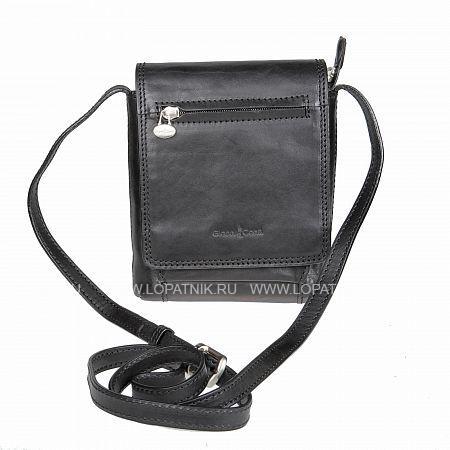Сумка на плечевом ремне GIANNI CONTI 912130 BLACKМужские сумки через плечо<br>Описание:<br> закрывается на магнитную кнопку внутри один отдел, в котором <br> карман для сотового телефона<br> карман для документов на молнии<br> снаружи на передней стенке отдел, в котором<br> карман для мелких предметов<br> три кармашка для пластиковых карт<br> на задней стенке карман для документов на молнии<br>Материал: Натуральная кожа; Цвет: Черный; Пол: Мужской; Артикул: 912130 black;
