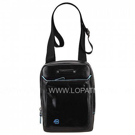 Купить Сумка вертикальная с плечевым ремнем PIQUADRO CA3084B2/N, Черный, Натуральная кожа