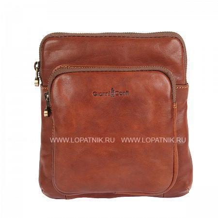Купить Сумка на плечевом ремне GIANNI CONTI 912302 TAN, Коричневый, Натуральная кожа