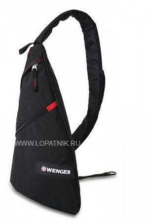 Рюкзак с одним плечевым ремнем WENGER 18302130Рюкзаки<br>Рюкзак WENGER, черный/красный, 25x15x45 см, 7 л<br>Материал: None; Цвет: None; Пол: None; Артикул: 18302130;