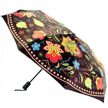 Купить Зонт складной женский FLIORAJ 013-038 FJ, Коричневый, Разноцветный