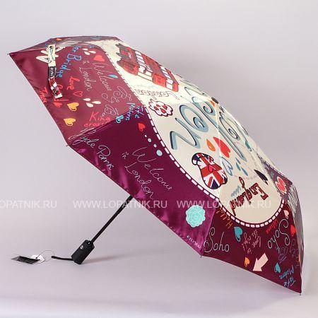 Купить Зонт складной женский FLIORAJ 013-044 FJ, Бордовый, Разноцветный