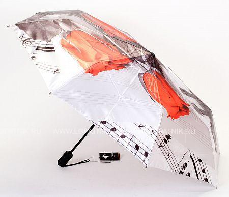 Купить Зонт складной женский FLIORAJ 013-048 FJ, Черный, Серый, Красный, Белый