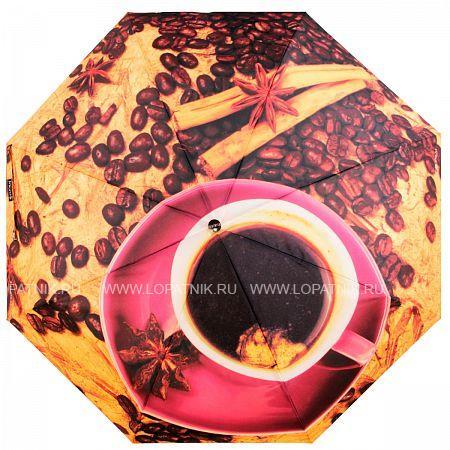 Купить Зонт складной женский FLIORAJ 014-51 FJ, Коричневый, Оранжевый, Розовый