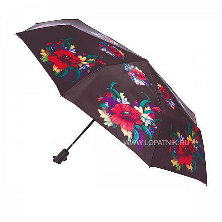 Купить Зонт складной женский FLIORAJ 190202 FJ, Черный
