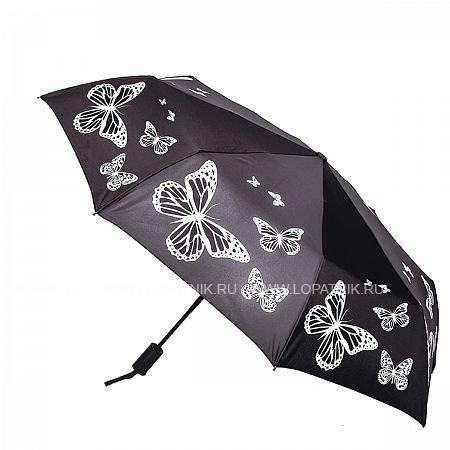 Купить Зонт складной женский FLIORAJ 190206 FJ, Белый, Черный