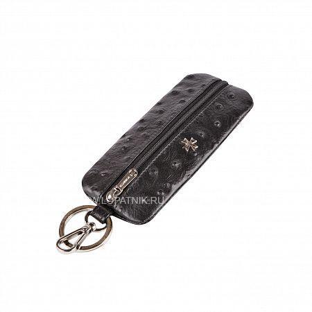 Ключница VASHERON 9275-N.OSTRICH BLACKКлючницы<br>Футляр для ключей из натуральной телячьей кожи на молнии с карабином и кольцом для ключей. Внутри кольцо для ключей на кожаном ремешке. Подходит для длинных ключей.<br>Материал: Натуральная кожа; Цвет: Черный; Пол: Мужской; Артикул: 9275-N.Ostrich Black;
