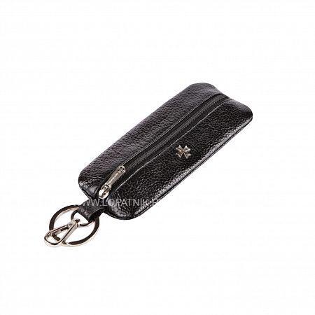Ключница VASHERON 9275-N.POLO BLACKКлючницы<br>Футляр для ключей из натуральной телячьей кожи на молнии с карабином и кольцом для ключей. Внутри кольцо для ключей на кожаном ремешке. Подходит для длинных ключей.<br>Материал: Натуральная кожа; Цвет: Черный; Пол: Мужской; Артикул: 9275-N.Polo Black;