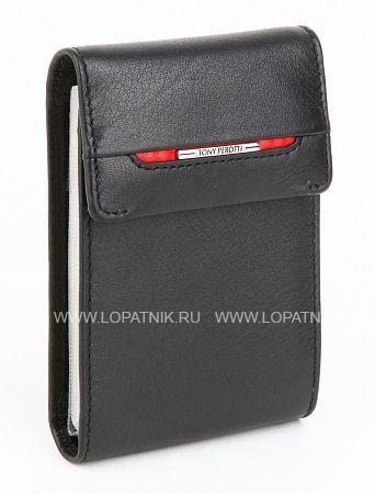 Кредитница TONY PEROTTI 681239/1Кредитницы<br>Множество файлов для кредиток, общая кнопка-застежка.<br>Материал: Натуральная кожа; Цвет: Черный; Пол: Мужской; Артикул: 681239/1;