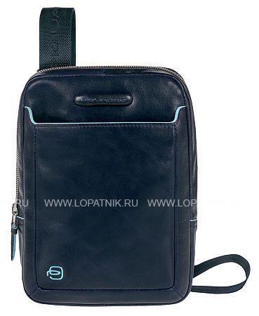 Купить Сумка вертикальная с плечевым ремнем PIQUADRO CA3084B2/BLU2, Синий, Натуральная кожа